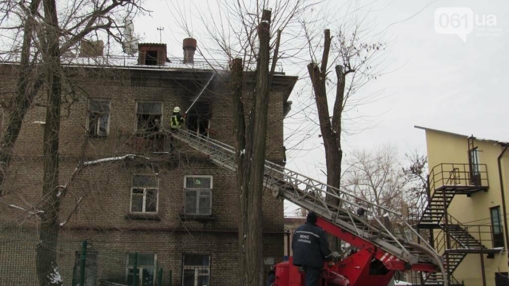 В Запорожье горело общежитие: в одной из комнат находились дети, - ФОТО , фото-2