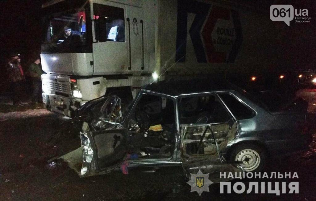 Под Запорожьем ВАЗ столкнулся с фурой: водитель погиб, - ФОТО, фото-1