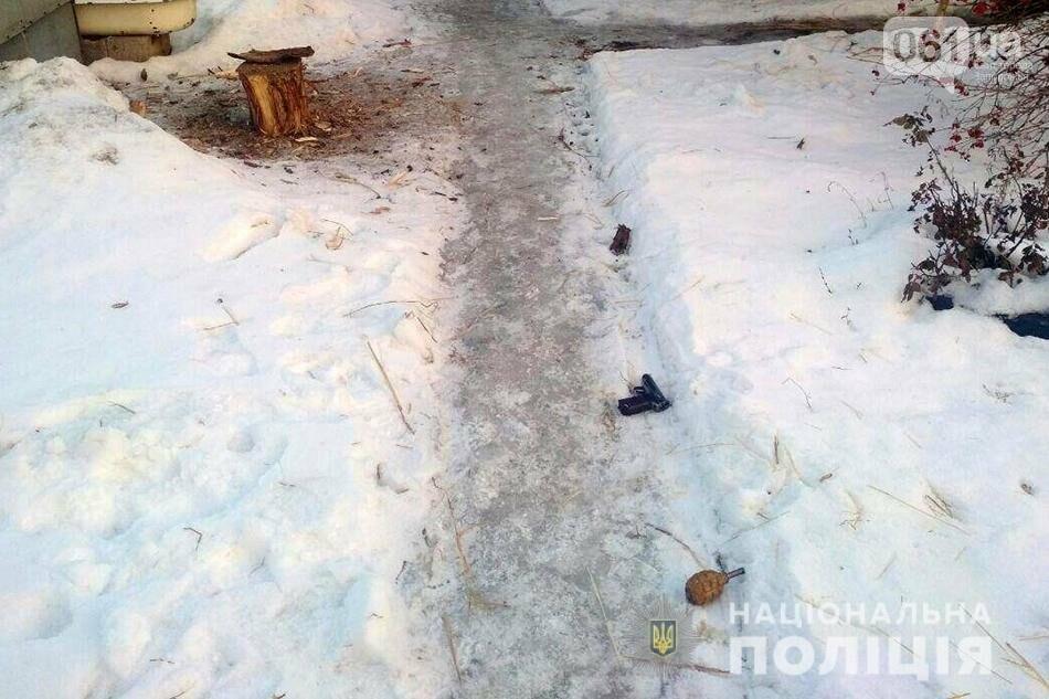 Под Вольнянском местный житель угрожал сотрудникам облэнерго пистолетом и бросил гранату в полицейских, фото-3