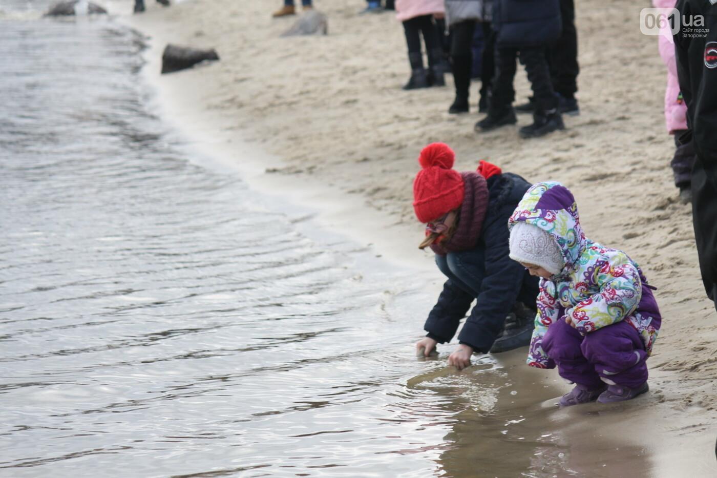 На Правобережном пляже сотни запорожцев отметили Крещение: как это было, – ФОТОРЕПОРТАЖ, фото-5