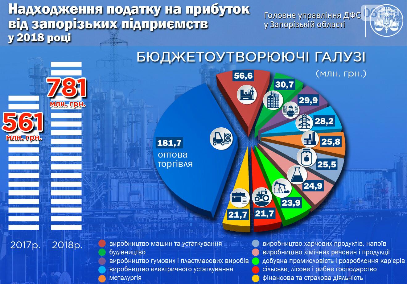 Запорожские предприятия заплатили с прибыли в госбюджет почти 800 миллионов, фото-1
