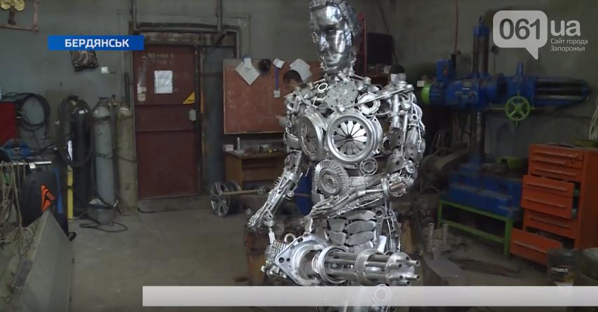 В Бердянские ученики лицея сделали металлического Терминатора, – ВИДЕО, фото-2