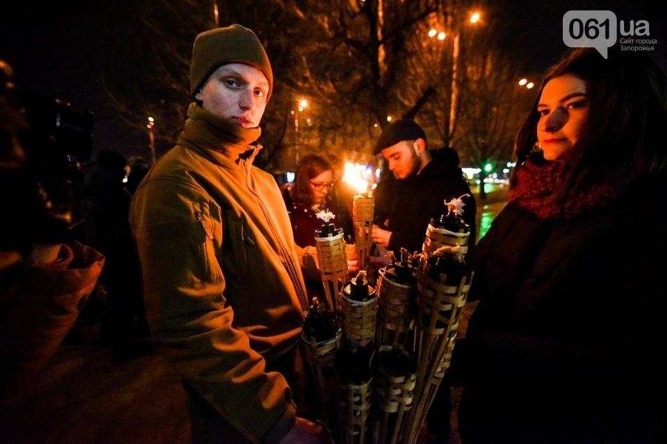 """""""Крути, вас не забути"""": в центре Запорожья прошло факельное шествие, - ФОТОРЕПОРТАЖ, фото-1"""