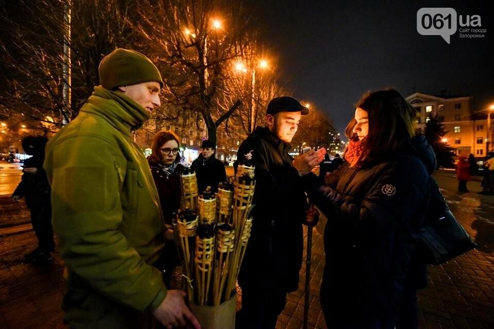 """""""Крути, вас не забути"""": в центре Запорожья прошло факельное шествие, - ФОТОРЕПОРТАЖ, фото-2"""