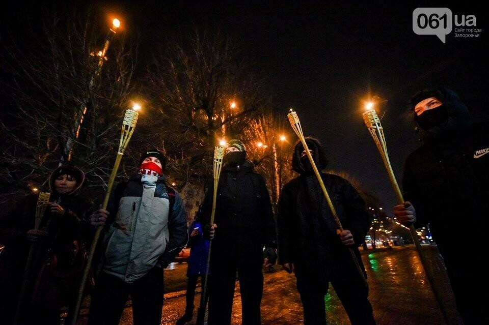 """""""Крути, вас не забути"""": в центре Запорожья прошло факельное шествие, - ФОТОРЕПОРТАЖ, фото-13"""
