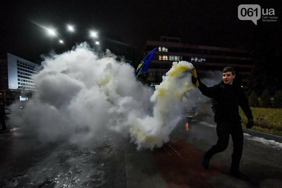 """""""Крути, вас не забути"""": в центре Запорожья прошло факельное шествие, - ФОТОРЕПОРТАЖ, фото-24"""