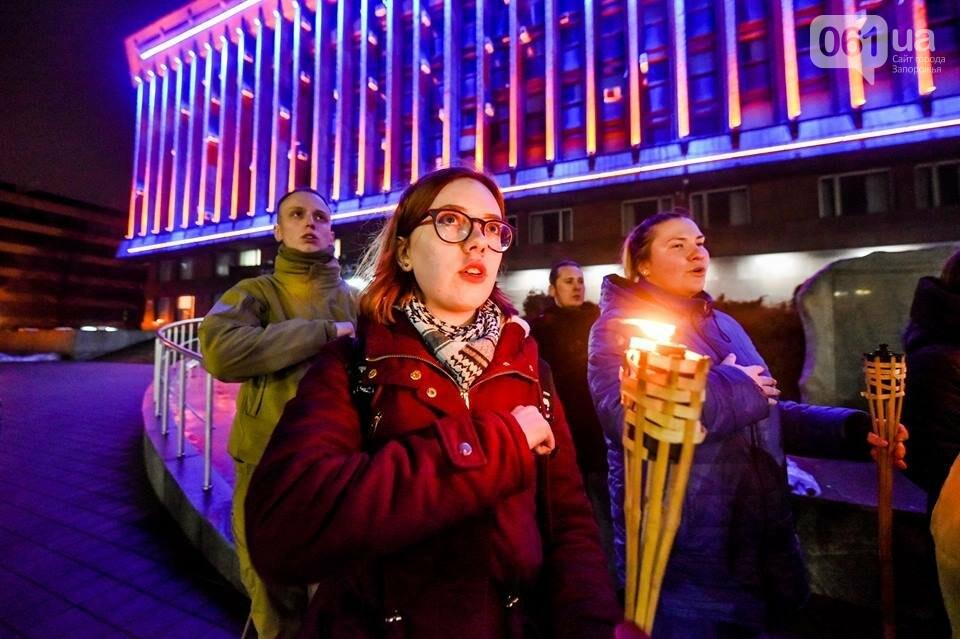 """""""Крути, вас не забути"""": в центре Запорожья прошло факельное шествие, - ФОТОРЕПОРТАЖ, фото-26"""