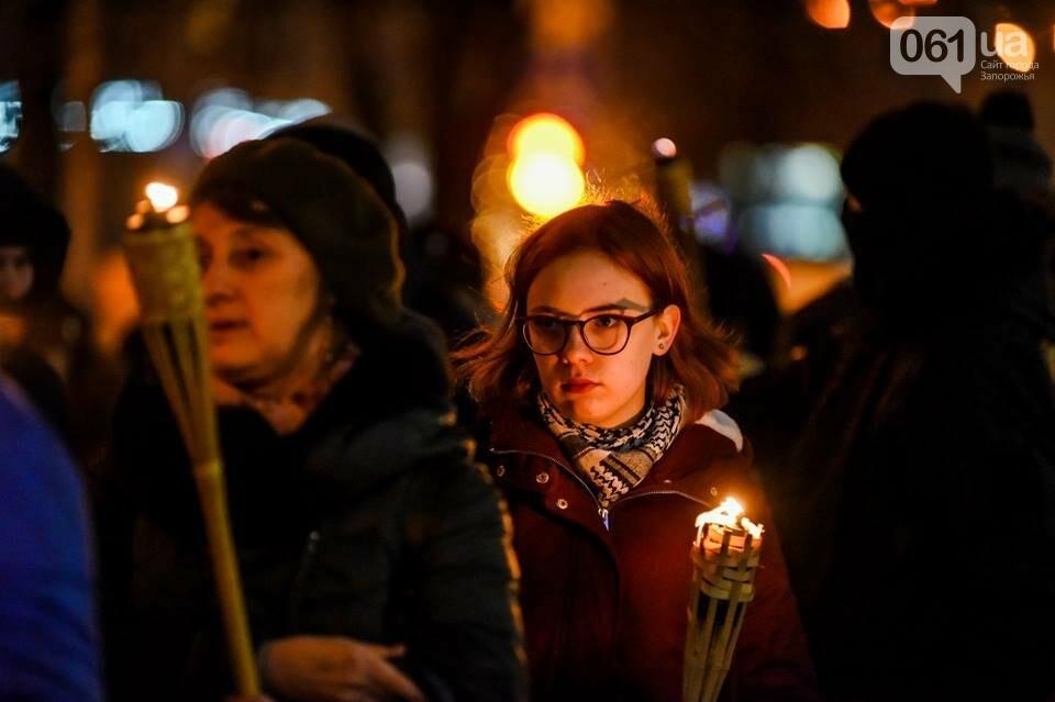 """""""Крути, вас не забути"""": в центре Запорожья прошло факельное шествие, - ФОТОРЕПОРТАЖ, фото-17"""