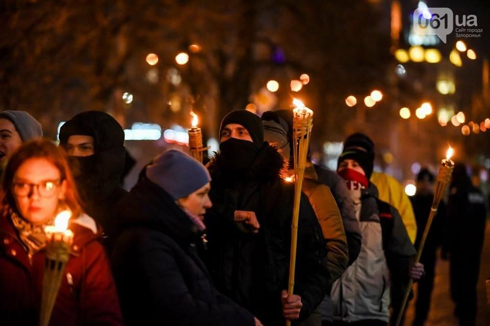 """""""Крути, вас не забути"""": в центре Запорожья прошло факельное шествие, - ФОТОРЕПОРТАЖ, фото-18"""