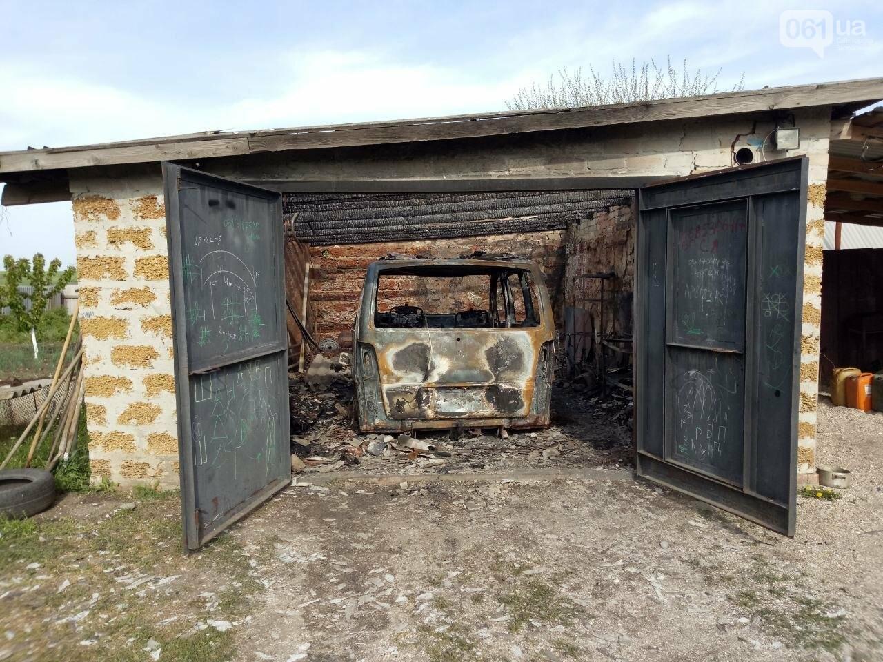 "Под Запорожьем в гараже сгорел ""Mercedes"", - ФОТО, фото-1"