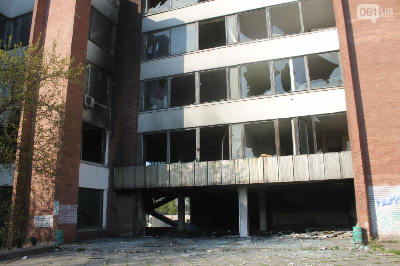 В центре Запорожья разрушается заброшенное здание института «Запорожгражданпроект», – ФОТОРЕПОРТАЖ  , фото-2
