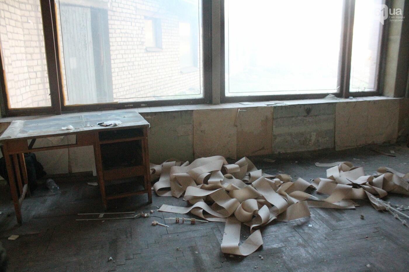 В центре Запорожья разрушается заброшенное здание института «Запорожгражданпроект», – ФОТОРЕПОРТАЖ  , фото-14