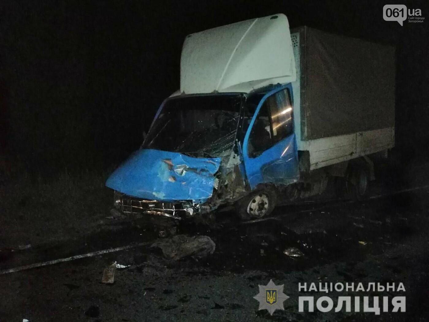 На трассе в Запорожской области в результате ДТП смяло авто - один человек погиб, - ФОТО, фото-2