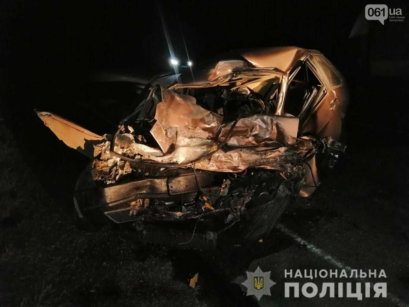 На трассе в Запорожской области в результате ДТП смяло авто - один человек погиб, - ФОТО, фото-3