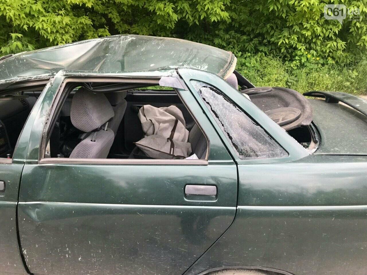 ДТП на Юбилейной в Запорожье: машина дважды перевернулась в воздухе - в ней были дети, - ВИДЕО, ФОТО, фото-1