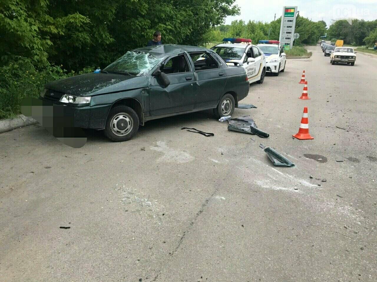 ДТП на Юбилейной в Запорожье: машина дважды перевернулась в воздухе - в ней были дети, - ВИДЕО, ФОТО, фото-2