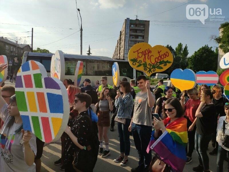 В Запорожье акцию ЛГБТ-сообщества охраняют почти полтысячи силовиков, - ФОТО, ВИДЕО, фото-9
