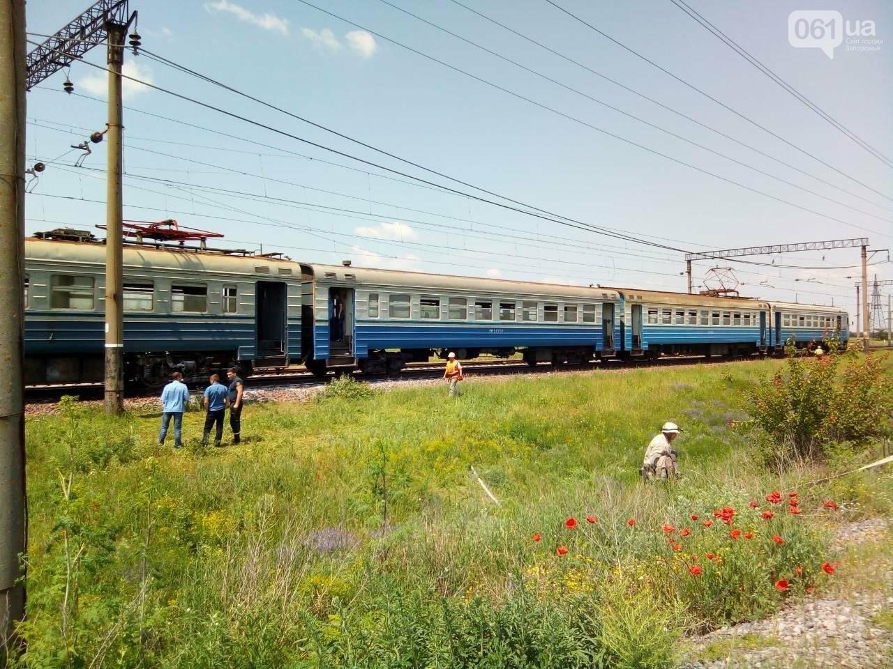 В Запорожской области посреди поля задымился вагон электрички, - ФОТО, ВИДЕО, фото-1