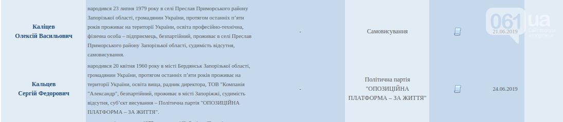 ЦИК зарегистрировал по Запорожской области несколько кандидатов-двойников, фото-3