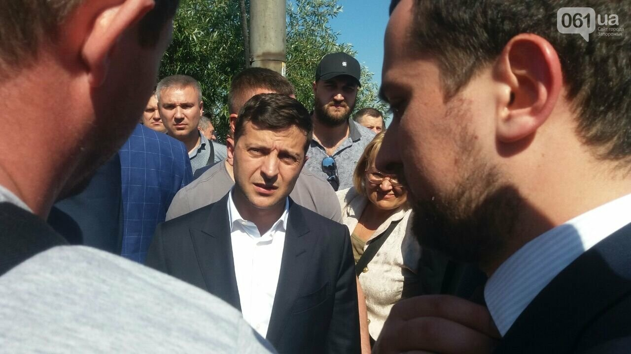 Зеленский приехал посмотреть на ремонт плотины ДнепроГЭС, - ФОТО, фото-2
