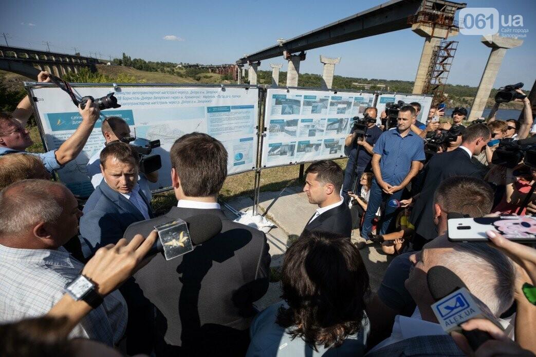 Зеленский приехал посмотреть на ремонт плотины ДнепроГЭС, - ФОТО, фото-9