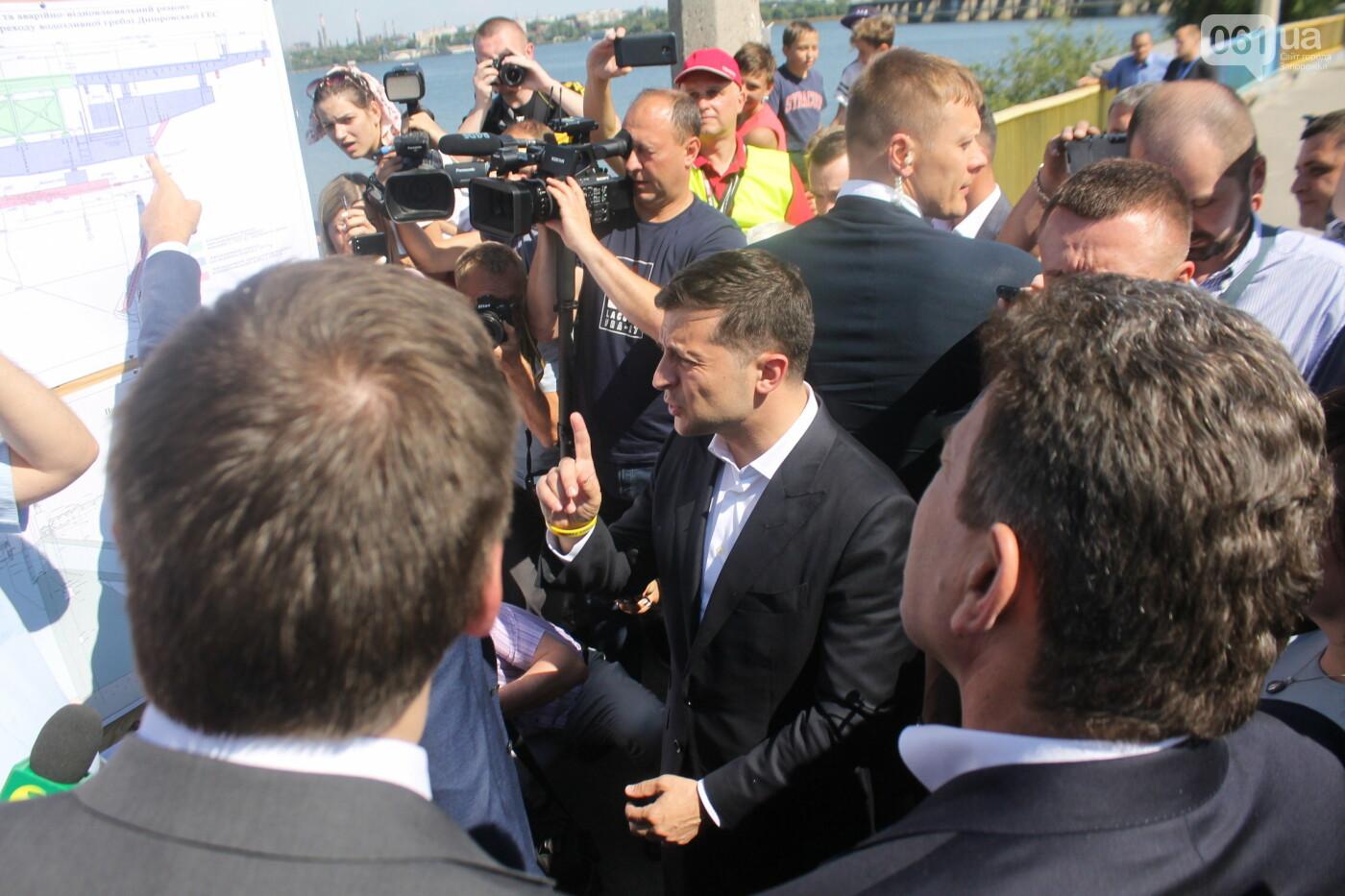 Зеленский в Запорожье: гендиректор «Укргидроэнерго» пообещал уволиться, если вовремя не закончит ремонт плотины, – ФОТО, фото-3