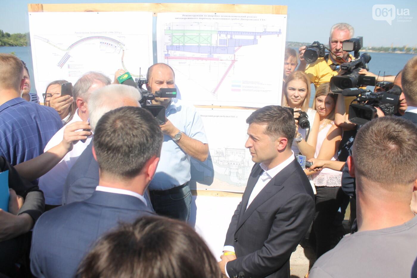 Зеленский в Запорожье: гендиректор «Укргидроэнерго» пообещал уволиться, если вовремя не закончит ремонт плотины, – ФОТО, фото-10