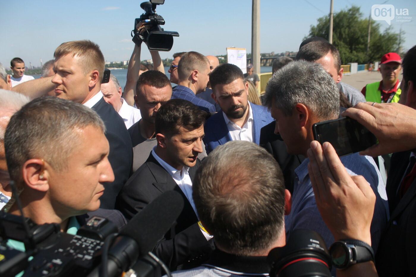 Зеленский в Запорожье: гендиректор «Укргидроэнерго» пообещал уволиться, если вовремя не закончит ремонт плотины, – ФОТО, фото-6