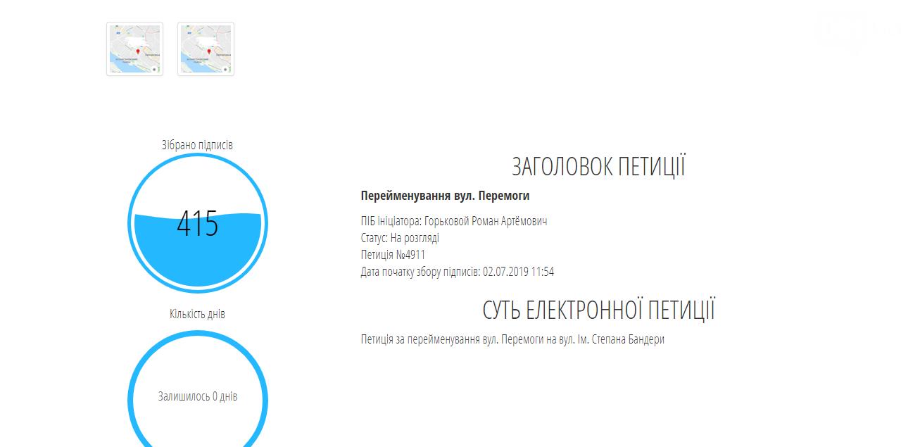 В Запорожье обнулили часть голосов с петиции о переименовании улицы в честь Бандеры из-за подозрения о «фейковых» подписантах, фото-2