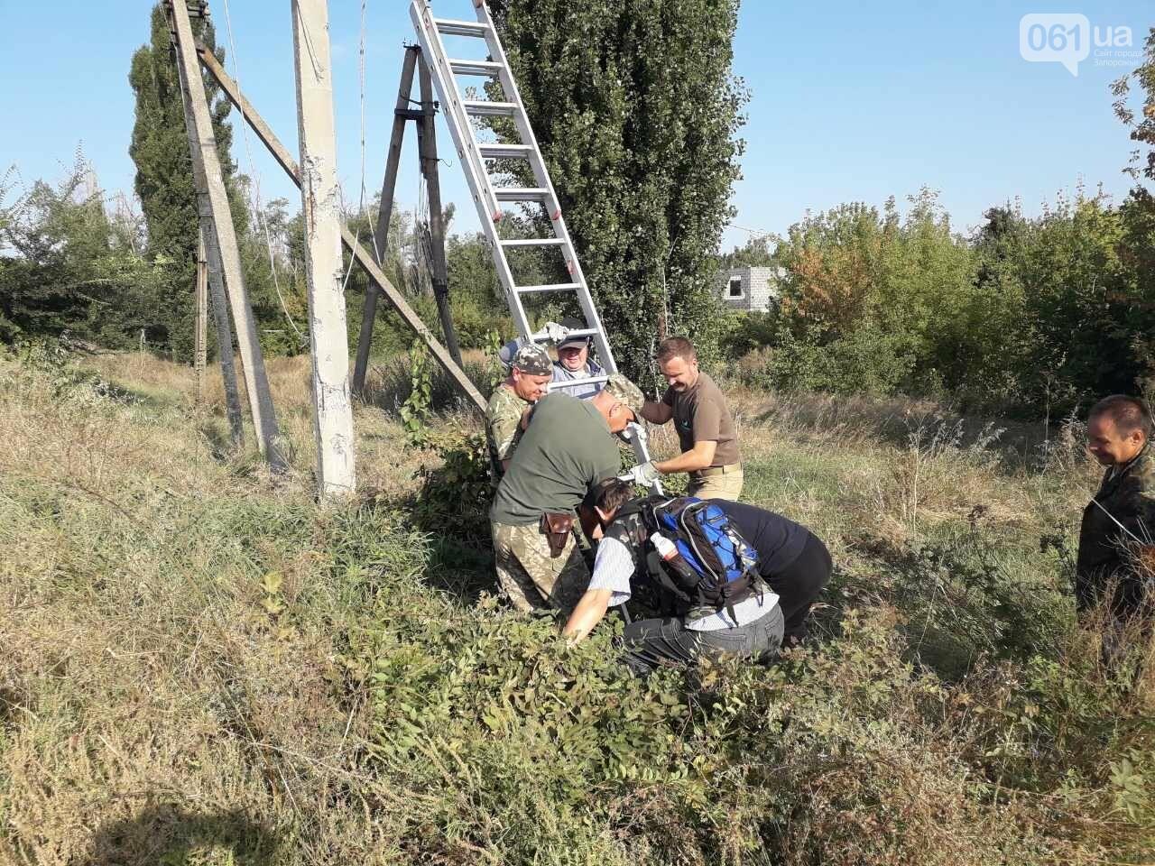 Энергодарские бойцы и волонтеры помогли «запитать» поселок Пески, фото-1