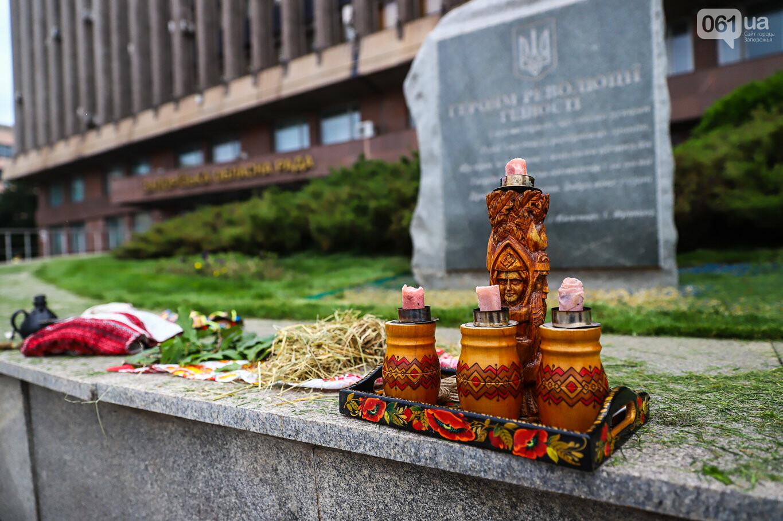 В центре Запорожья простились с азовцем: церемония прошла по родноверскому обряду, - ФОТОРЕПОРТАЖ, фото-3