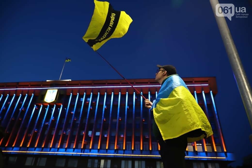 Нет капитуляции: запорожцы вышли на митинг против формулы Штайнмайера, - ФОТОРЕПОРТАЖ, фото-4