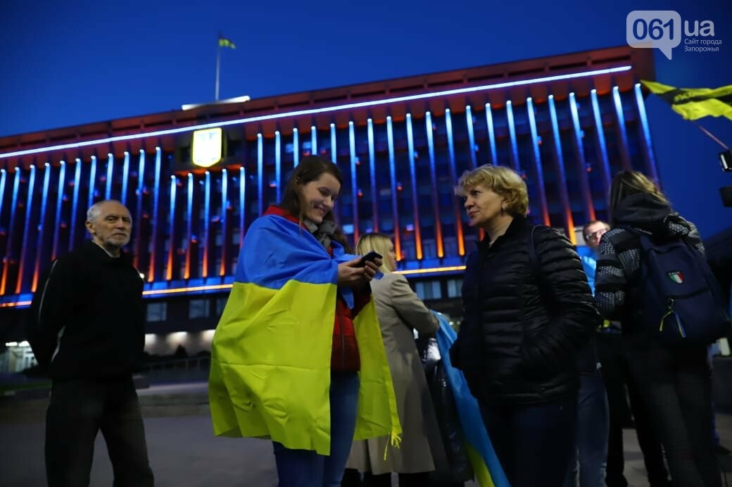 Нет капитуляции: запорожцы вышли на митинг против формулы Штайнмайера, - ФОТОРЕПОРТАЖ, фото-2