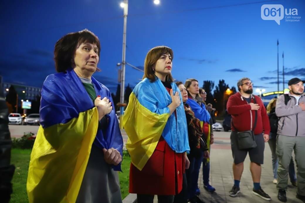 Нет капитуляции: запорожцы вышли на митинг против формулы Штайнмайера, - ФОТОРЕПОРТАЖ, фото-9