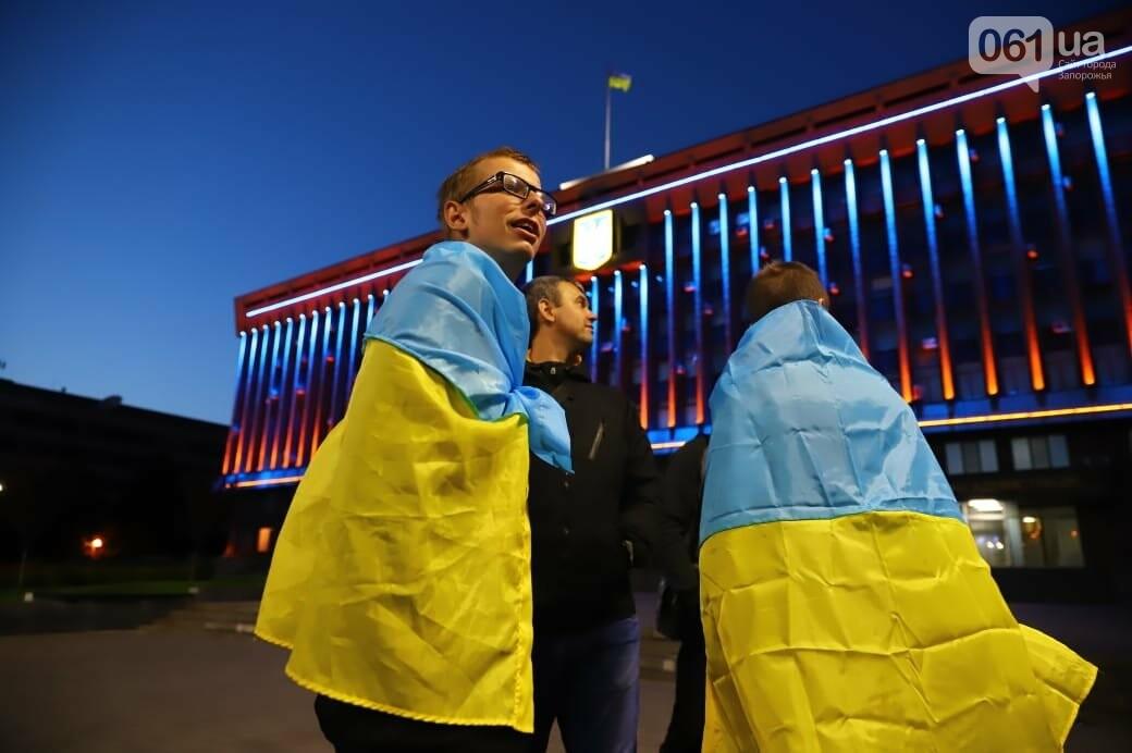 Нет капитуляции: запорожцы вышли на митинг против формулы Штайнмайера, - ФОТОРЕПОРТАЖ, фото-7