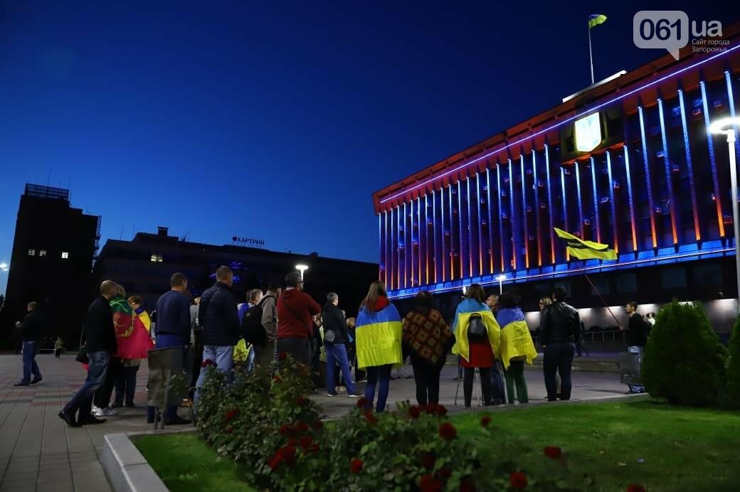 Нет капитуляции: запорожцы вышли на митинг против формулы Штайнмайера, - ФОТОРЕПОРТАЖ, фото-13
