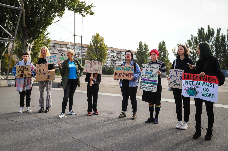 В центре Запорожья состоялась немногочисленная забастовка за климат, - ФОТОРЕПОРТАЖ, фото-2