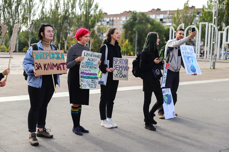 В центре Запорожья состоялась немногочисленная забастовка за климат, - ФОТОРЕПОРТАЖ, фото-3