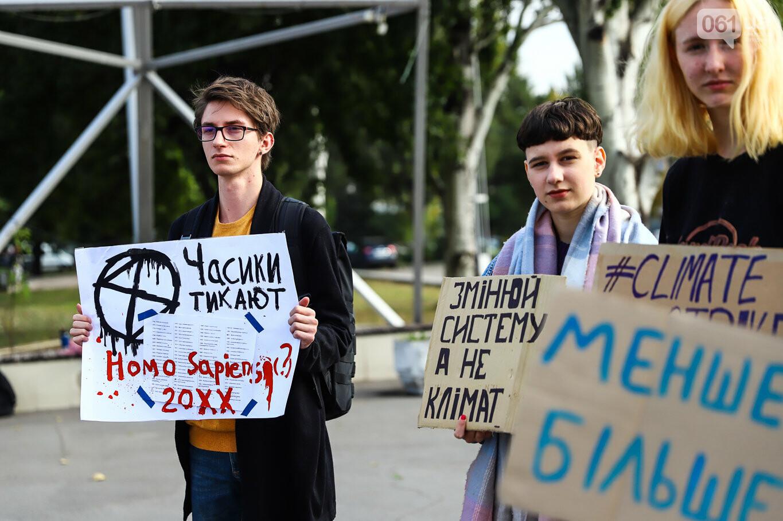 В центре Запорожья состоялась немногочисленная забастовка за климат, - ФОТОРЕПОРТАЖ, фото-8