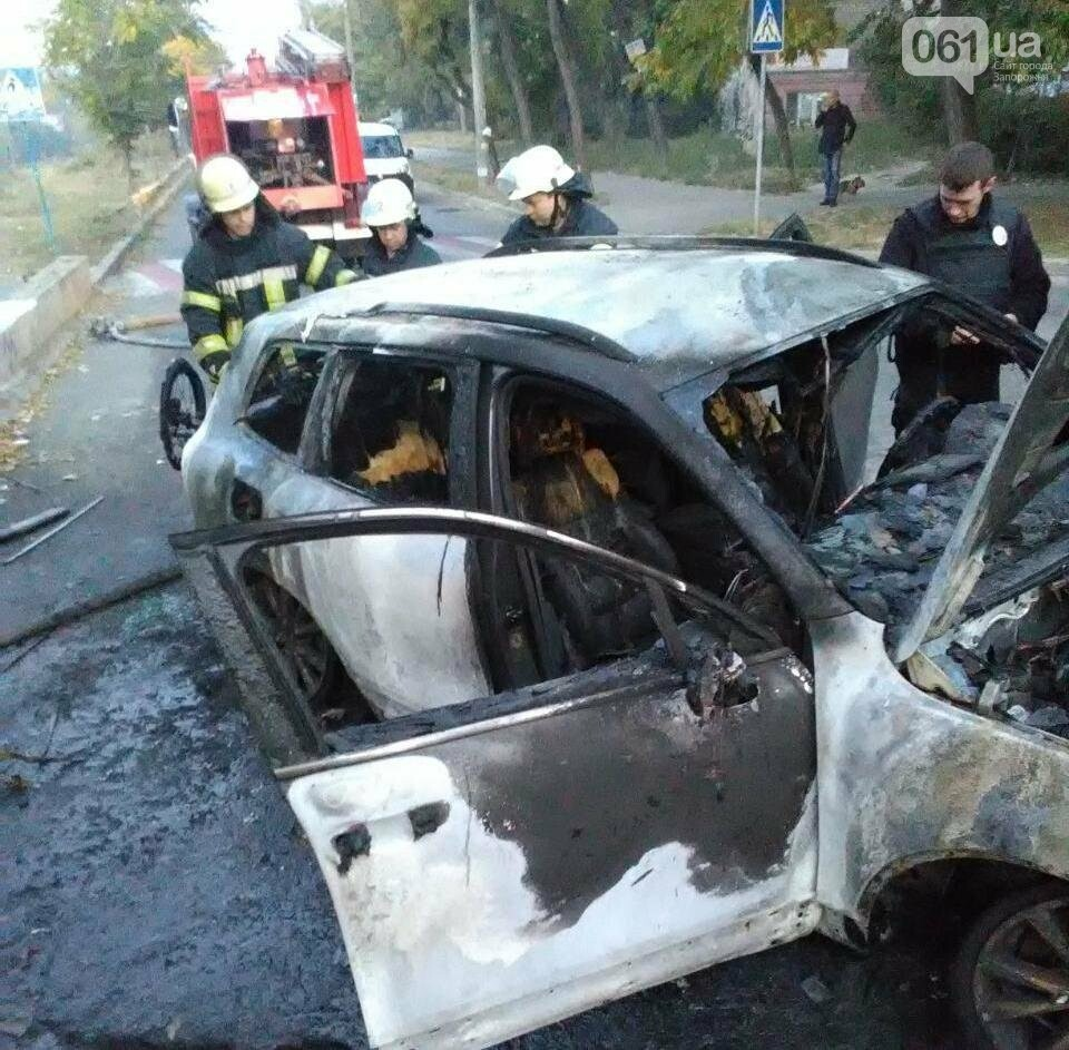 В центре Запорожья сгорел Volkswagen Touareg, - ФОТО, фото-2