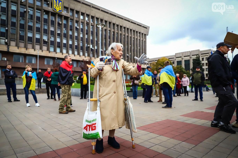 Создание штаба сопротивления, выступление кобзаря и героини Майдана: как в Запорожье прошло вече против капитуляции, - ФОТОРЕПОРТАЖ, фото-9