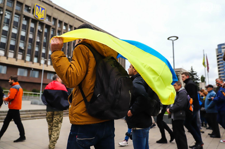 Создание штаба сопротивления, выступление кобзаря и героини Майдана: как в Запорожье прошло вече против капитуляции, - ФОТОРЕПОРТАЖ, фото-13