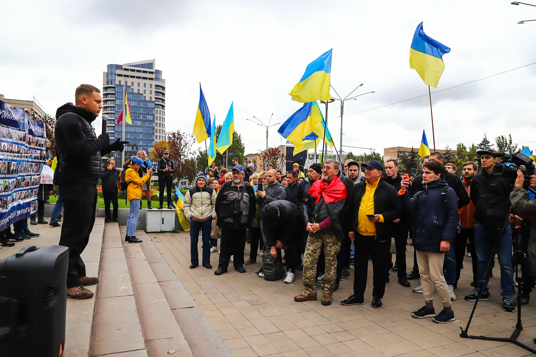 Создание штаба сопротивления, выступление кобзаря и героини Майдана: как в Запорожье прошло вече против капитуляции, - ФОТОРЕПОРТАЖ, фото-17