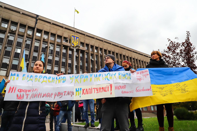 Создание штаба сопротивления, выступление кобзаря и героини Майдана: как в Запорожье прошло вече против капитуляции, - ФОТОРЕПОРТАЖ, фото-28