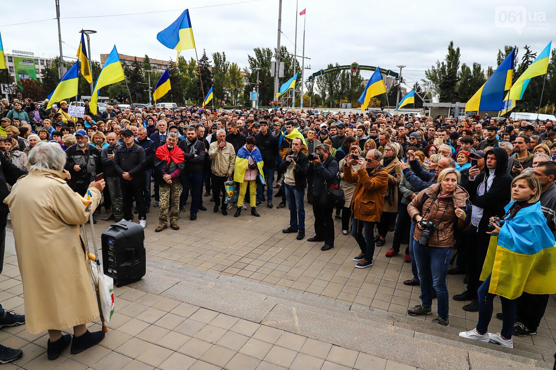 Создание штаба сопротивления, выступление кобзаря и героини Майдана: как в Запорожье прошло вече против капитуляции, - ФОТОРЕПОРТАЖ, фото-4