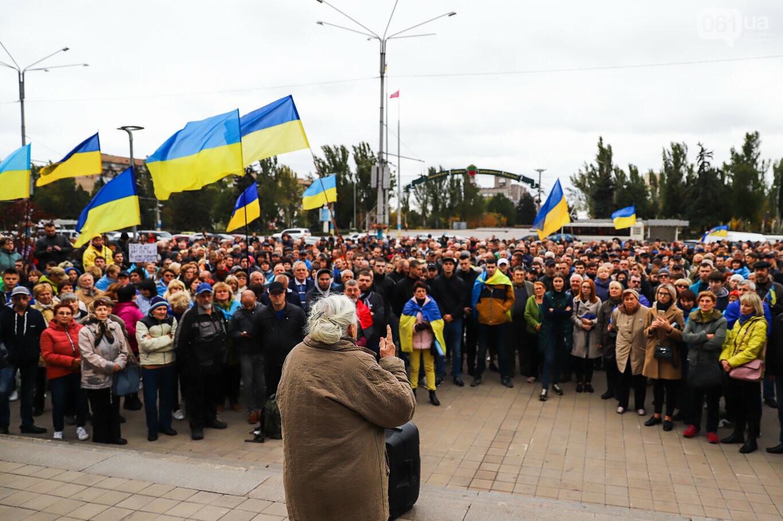 Создание штаба сопротивления, выступление кобзаря и героини Майдана: как в Запорожье прошло вече против капитуляции, - ФОТОРЕПОРТАЖ, фото-35