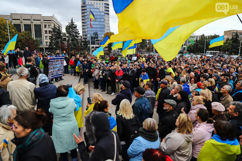 Создание штаба сопротивления, выступление кобзаря и героини Майдана: как в Запорожье прошло вече против капитуляции, - ФОТОРЕПОРТАЖ, фото-36