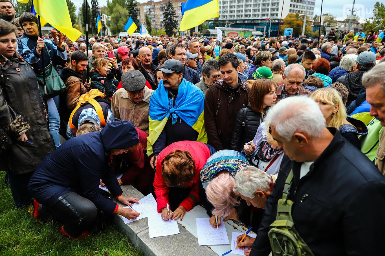 Создание штаба сопротивления, выступление кобзаря и героини Майдана: как в Запорожье прошло вече против капитуляции, - ФОТОРЕПОРТАЖ, фото-39