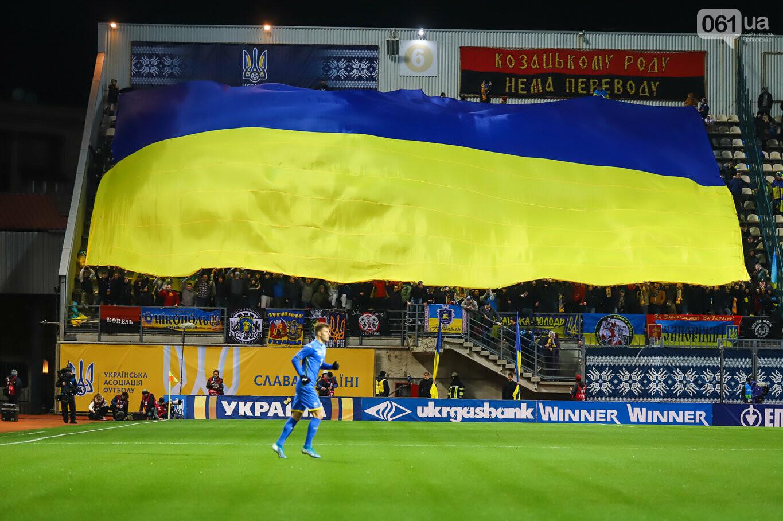 Сине-желтые трибуны, гимн с Гайтаной и перфомансы от фанатов: как в Запорожье впервые прошел матч сборной Украины, - ФОТОРЕПОРТАЖ, фото-8