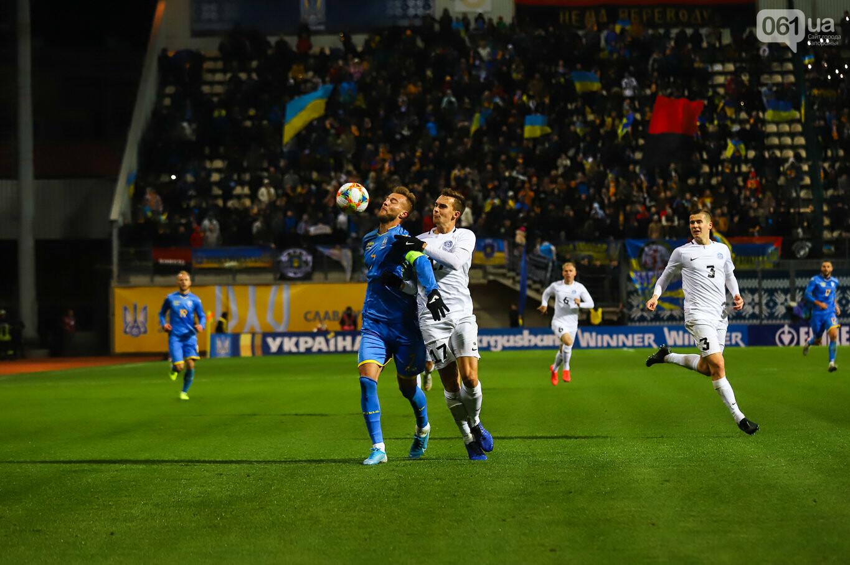 Сине-желтые трибуны, гимн с Гайтаной и перфомансы от фанатов: как в Запорожье впервые прошел матч сборной Украины, - ФОТОРЕПОРТАЖ, фото-53